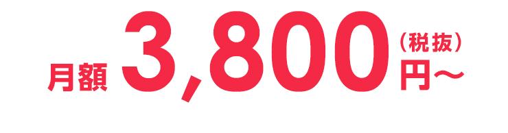 月額3,800円(税抜)